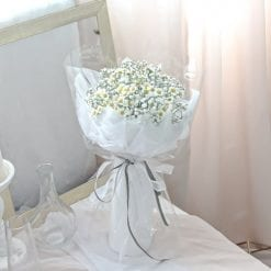 All Smiles – Baby Breath Daisy Bouquet