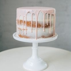 Rustic Vanilla Drip Cake - Whyzee Birthday Cake Delivery