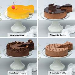 6 Inch Cake & Flower Bundle Cake Options