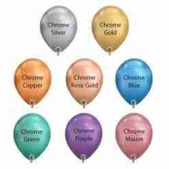 Chrome Latex Balloons Colour Chart