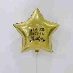 Gold Customised Star Foil Balloon