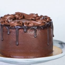 eggless chocolate cake side
