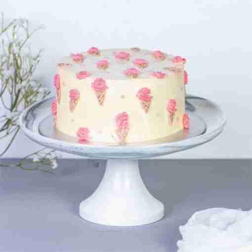 minimalistic ice cream cake