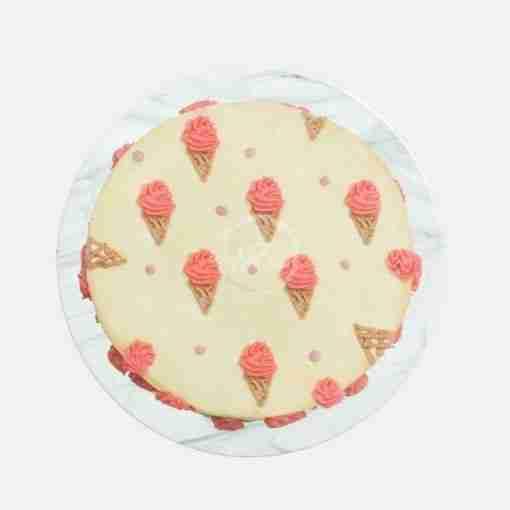minimalistic ice cream cake top