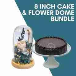 8 inch cake flower dome bundle