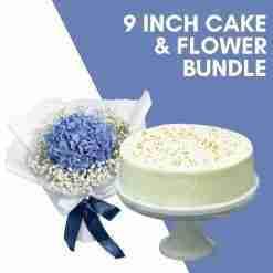 9 inch cake flower bundle