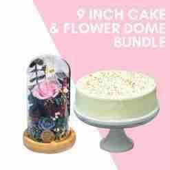 9 inch cake flower dome bundle