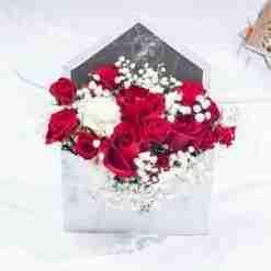 Forever and Always - Rose Flower Envelope