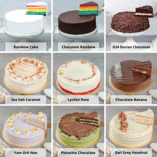Premium Cake & Flower Bundle Cake Options
