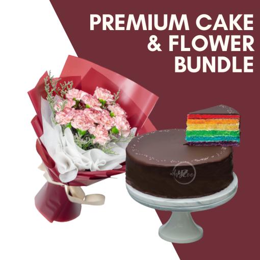 Premium Cake & Flower Bundle Cover Photo