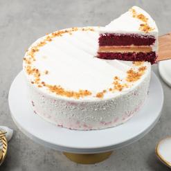 Red Velvet Peanut Butter Cake Slice