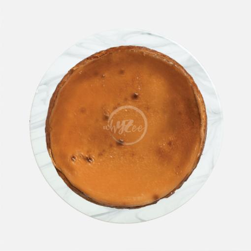 butterscotch basque cheesecake top