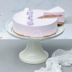 earl grey lavender cake slice