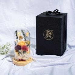 Forever Love Preserved Flower Dome Lit