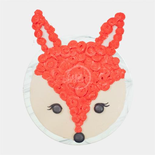fox cake top