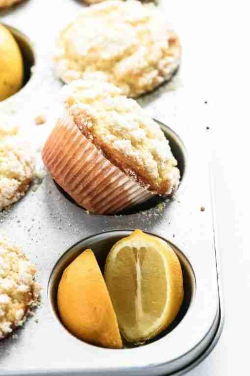 lemon cream cheese muffin