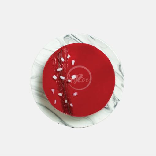 lychee rose cake top