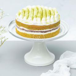 matcha redbean cake