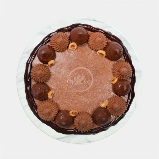 nutella cake top