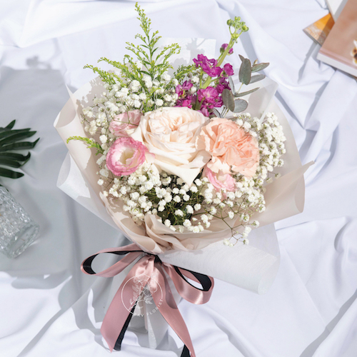 small surprise bloom bouquet