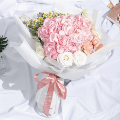 sweetheart- mixed hydrangea and carnation bouquet
