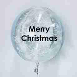 Customised orb snowflake balloon