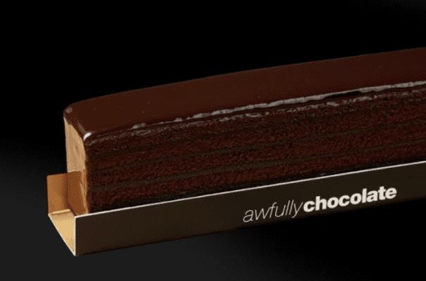 awfully chocolate stacked chocolate cake