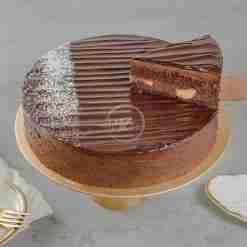 Chocolate Banana Cake Slice