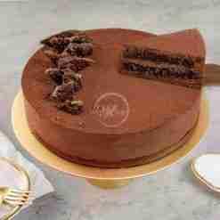Chocolate Crisp Mousse Cake Slice