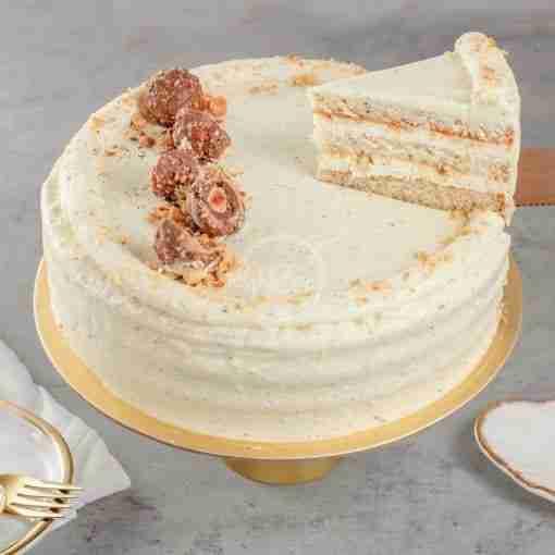 Honey Earl Grey Hazelnut Cake Slice