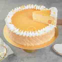 Mango Passionfruit Mousse Cake Slice