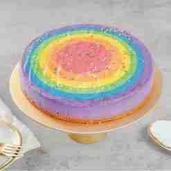 Rainbow Paddle Pop Cheesecake
