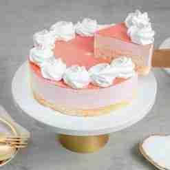 Strawberry Mousse Cake Slice
