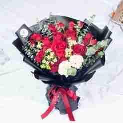Flirt With Me-Premium Red Rose XL Bouquet