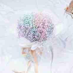 Galaxy Rainbow Baby Breath Bouquet