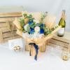 Fantasy – Premium White & Blue Kenya Rose Bouquet